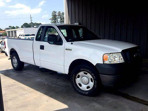 2007 FORD F-150 STX 2DR REGULAR CAB STYLESIDE 6 white 2007 ford f-150 ext cab perfect one owner