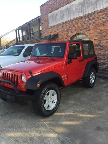 2007 JEEP WRANGLER X 4X4 2DR SUV red really nice jeep wrangler 4x4 6 speed manual  everything wo