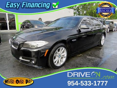 2015 BMW 5 Series for sale in Davie, FL