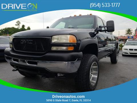 2001 GMC Sierra 2500HD for sale in Davie, FL