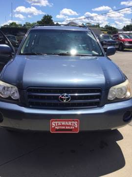 2002 Toyota Highlander for sale at Stewart's Motor Sales in Cambridge/Byesville OH