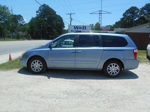 2006 Kia Sedona for sale at W & D Auto Sales in Fayetteville NC
