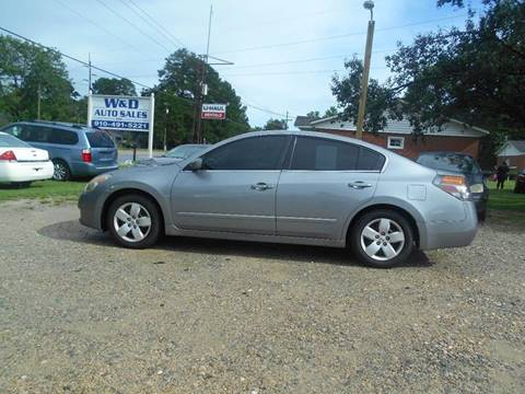 2007 Nissan Altima for sale at W & D Auto Sales in Fayetteville NC