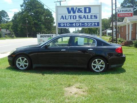 2003 Infiniti G35 for sale at W & D Auto Sales in Fayetteville NC