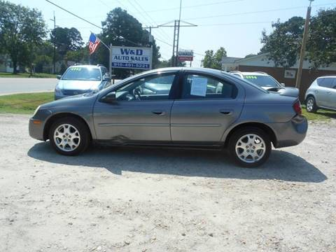 2005 Dodge Neon for sale at W & D Auto Sales in Fayetteville NC