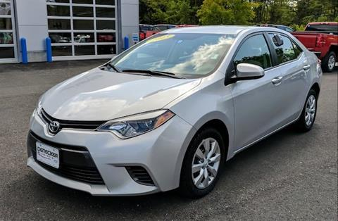 2015 Toyota Corolla for sale in Middlebury VT