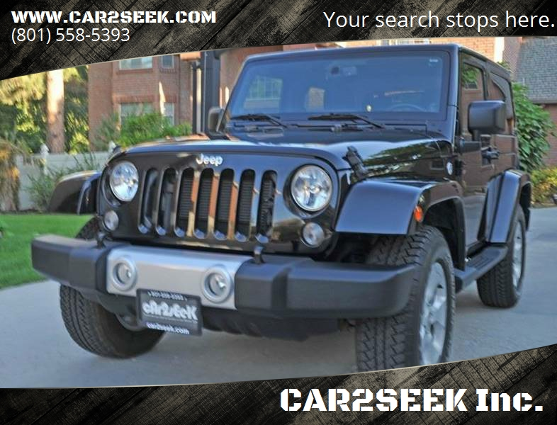 2014 Jeep Wrangler For Sale At CAR2SEEK Inc. In Salt Lake City UT