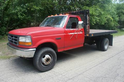 1997 Ford f450 flat bed dump for sale at Begleys Automotive Group in Elkhart IN