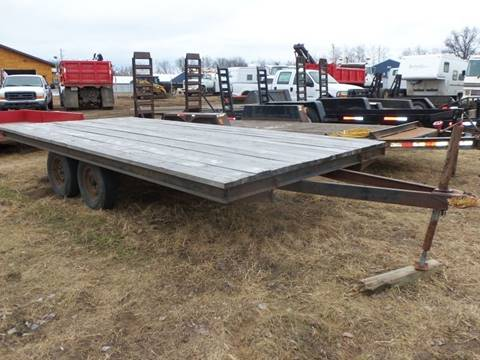 -1 Tandem Axle Flatbed Trailer 16ft