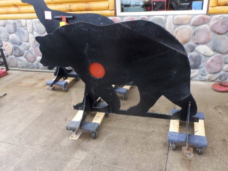 Homemade Bear Shooting Target AR500 for sale at Buck's Toys & Tires in Isanti MN