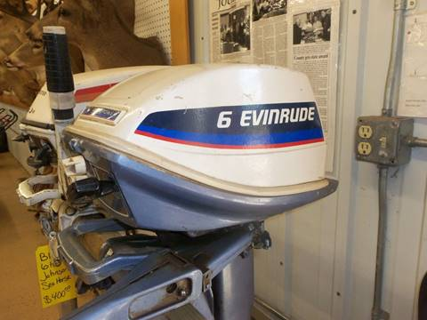 1976 Evinrude 6 hp for sale at Buck's Toys & Tires in Isanti MN