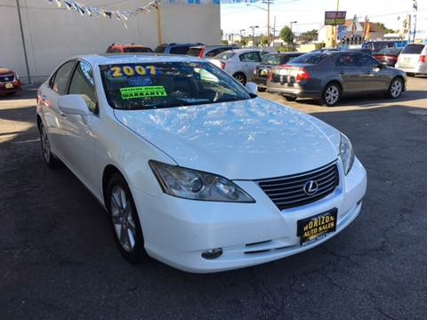2007 Lexus ES 350 for sale at Horizon Auto Sales in Bellflower CA