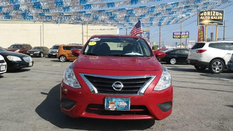 2015 Nissan Versa for sale at Horizon Auto Sales in Bellflower CA