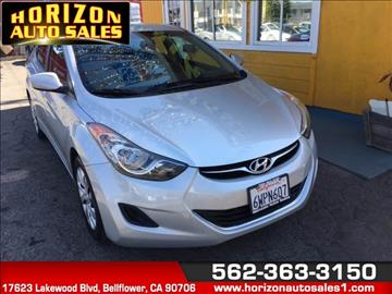 2013 Hyundai Elantra for sale at Horizon Auto Sales in Bellflower CA