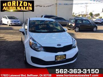 2015 Kia Rio for sale at Horizon Auto Sales in Bellflower CA
