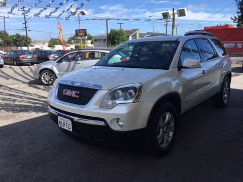 2009 GMC Acadia for sale at Horizon Auto Sales in Bellflower CA