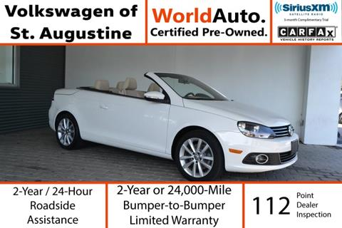 2013 Volkswagen Eos for sale in Saint Augustine, FL