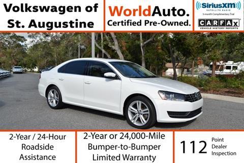 2015 Volkswagen Passat for sale in Saint Augustine, FL