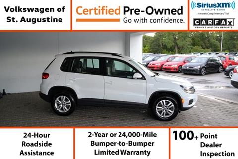 2016 Volkswagen Tiguan for sale in Saint Augustine, FL
