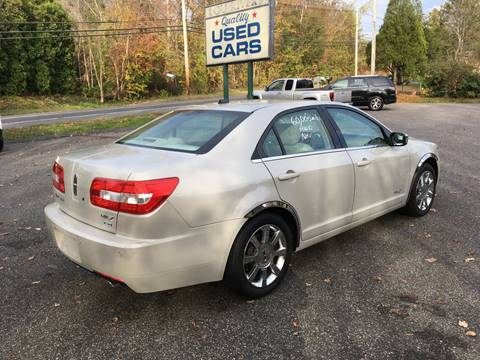 2008 Lincoln MKZ for sale at Lou Rivers Used Cars in Palmer MA