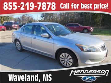 2010 Honda Accord for sale in Waveland, MS