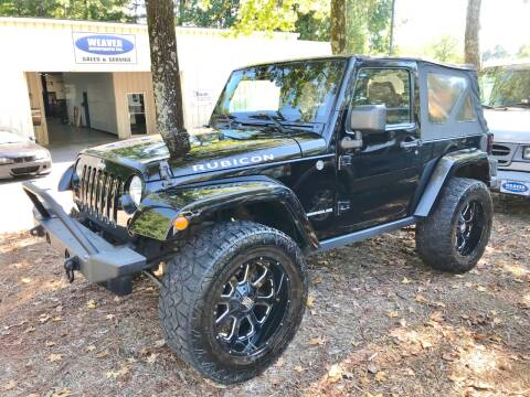 2011 Jeep Wrangler for sale at Weaver Motorsports Inc in Raleigh NC
