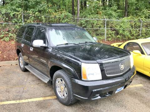 2002 Cadillac Escalade for sale at Weaver Motorsports Inc in Raleigh NC