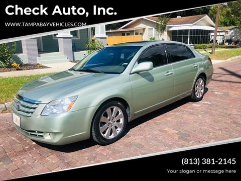 2005 Toyota Avalon for sale at CHECK  AUTO INC. in Tampa FL