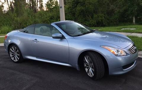 2009 Infiniti G37 Convertible for sale at CHECK  AUTO INC. in Tampa FL