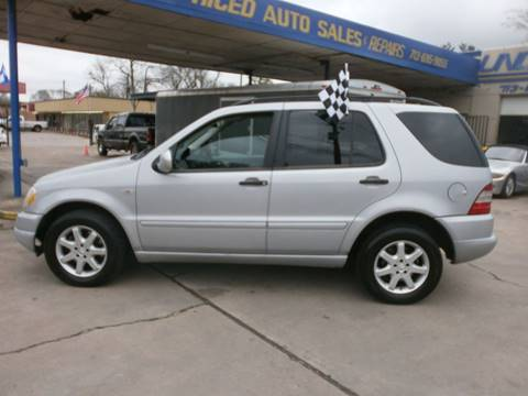 2000 Mercedes-Benz M-Class for sale at Under Priced Auto Sales in Houston TX