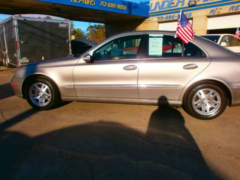 2004 Mercedes-Benz E-Class for sale at Under Priced Auto Sales in Houston TX
