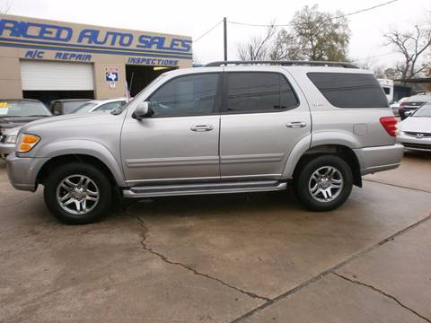 2003 Toyota Sequoia for sale at Under Priced Auto Sales in Houston TX