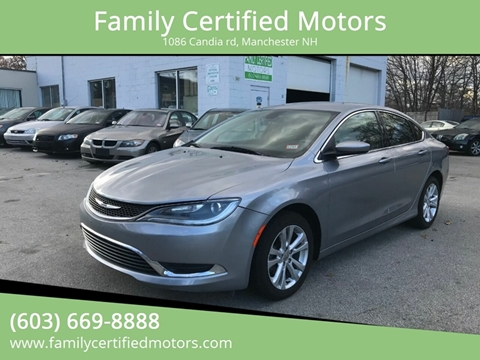 2015 Chrysler 200 for sale in Manchester, NH