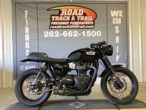 2017 Triumph Bonneville T100 Jet Black for sale at Road Track and Trail in Big Bend WI