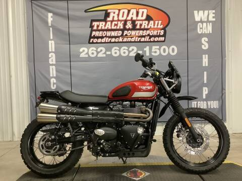 2017 Triumph Street Scrambler Korosi Red /  for sale at Road Track and Trail in Big Bend WI