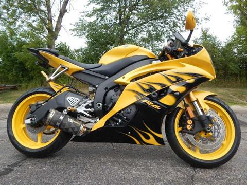 2008 Yamaha YZF-R6 Cadmium Yellow w/Flames for sale in Big Bend, WI