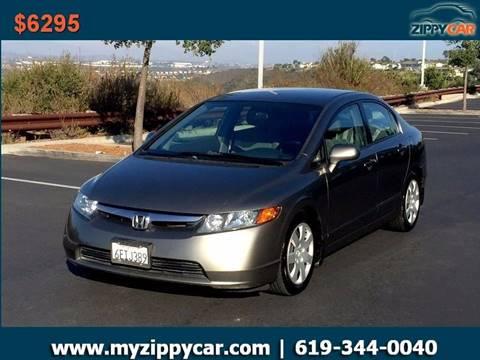 2008 Honda Civic for sale at Zippy Car in San Diego CA