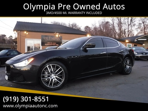 Maserati Used Cars Financing For Sale Raleigh Olympia Pre Owned Autos