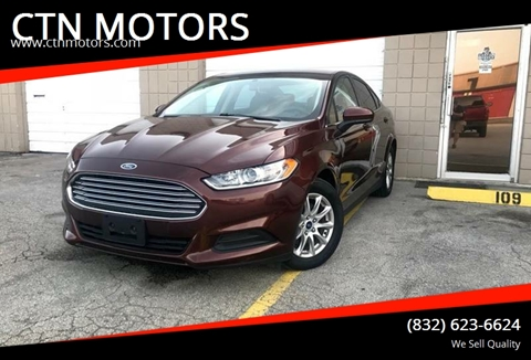 2016 Ford Fusion for sale at CTN MOTORS in Houston TX