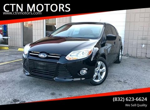 2012 Ford Focus for sale at CTN MOTORS in Houston TX