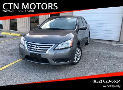 2015 Nissan Sentra for sale at CTN MOTORS in Houston TX