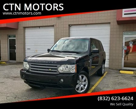 2007 Land Rover Range Rover for sale at CTN MOTORS in Houston TX