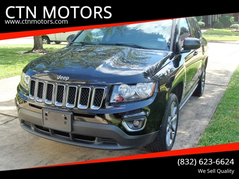 2016 Jeep Compass for sale at CTN MOTORS in Houston TX