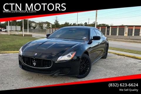 2014 Maserati Quattroporte for sale at CTN MOTORS in Houston TX