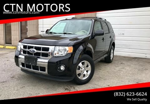 2012 Ford Escape for sale at CTN MOTORS in Houston TX