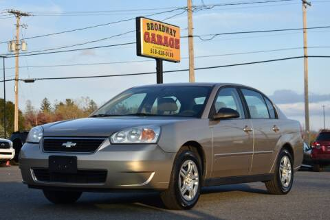 2006 Chevrolet Malibu for sale at Broadway Garage of Columbia County Inc. in Hudson NY