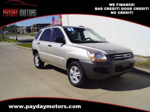 2007 Kia Sportage for sale at Payday Motors in Wichita And Topeka KS
