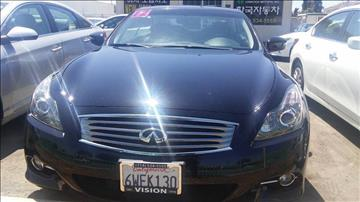 2012 Infiniti G37 Convertible for sale at Vision Hankook Motors in Garden Grove CA