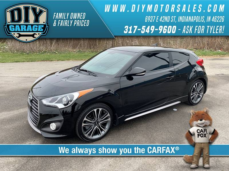 2016 Hyundai Veloster Turbo 3dr Coupe Dct W Black Seats In