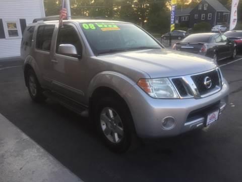 2008 Nissan Pathfinder for sale at 5 Corner Auto Sales Inc. in Brockton MA